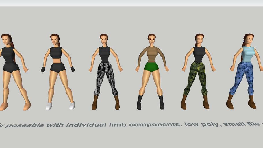 1:1 scale Lara Croft poseable actors