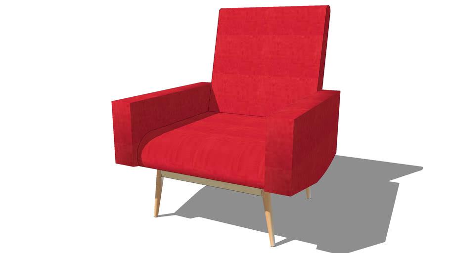 Fauteuil KELTON rouge, Maisons du monde. Réf: 147325 Prix: 299,90 €