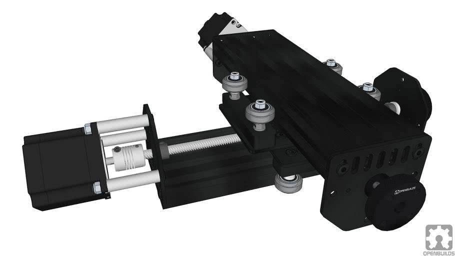 OpenBuilds Nema 23 Threaded Rod Plate XY Table Example