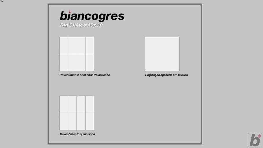 Rig Bianco 45x90