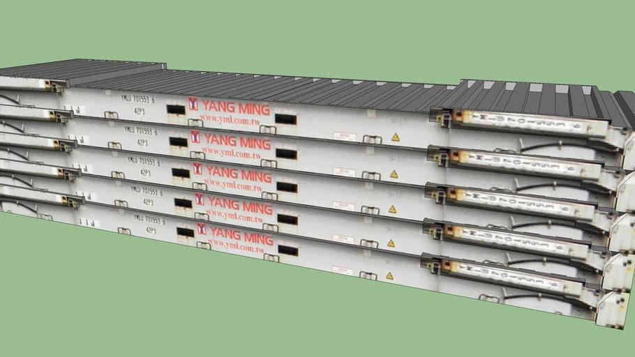 5 Stacked Yang Ming Flat Racks