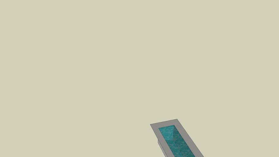 Havuz- kenarı mermer içi mavi