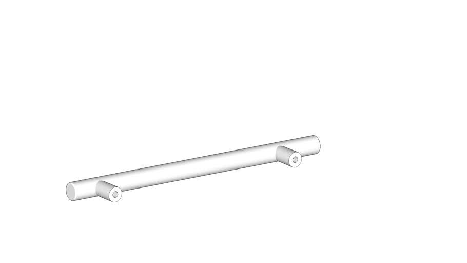 Ручка-рейлинг, матовый хром, d=12мм, 128-188мм, CMF