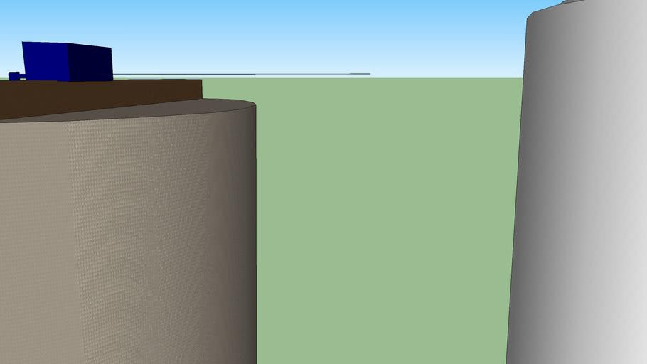 Water filtration plant + water storage