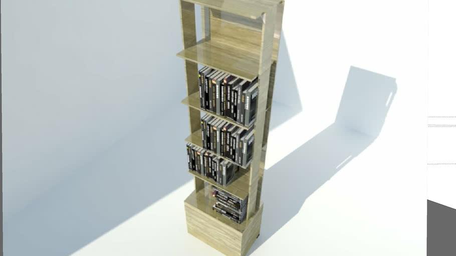 Estante para libros de madera laminada