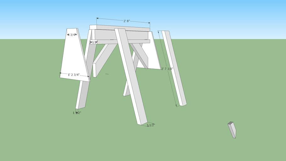 Easy to build sawhorse