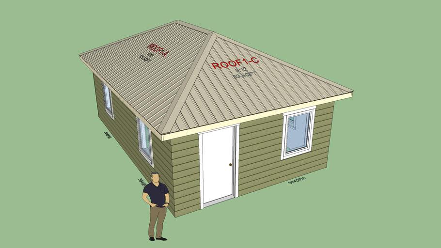 Hip Set with 3D Metal Roof