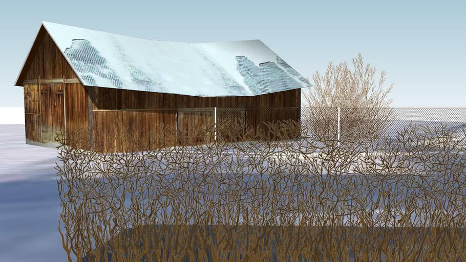 """SetTree3D"": Hedge (winter)"