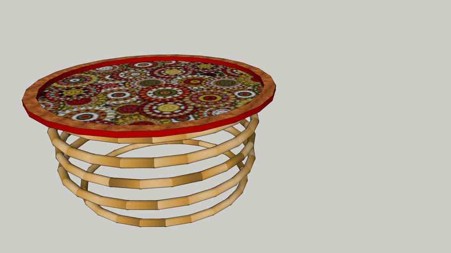 Oriental trey-table Red