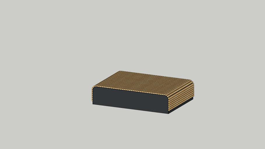 Podium Backless bench - Decona