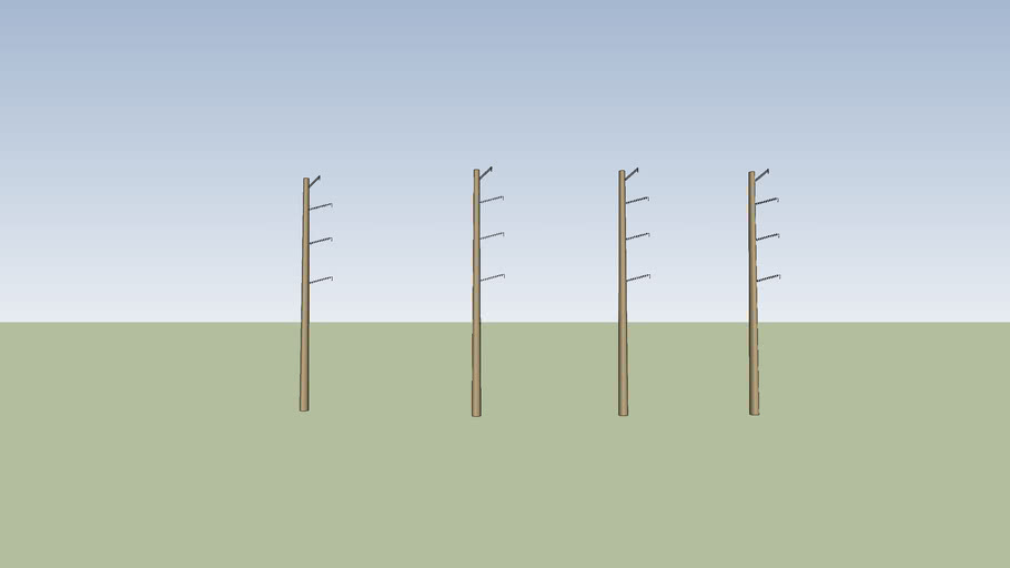 4 sets of concrete electrical towers