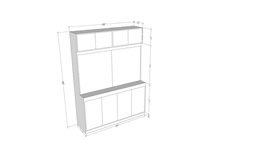 Tint rack with Top Cabinet
