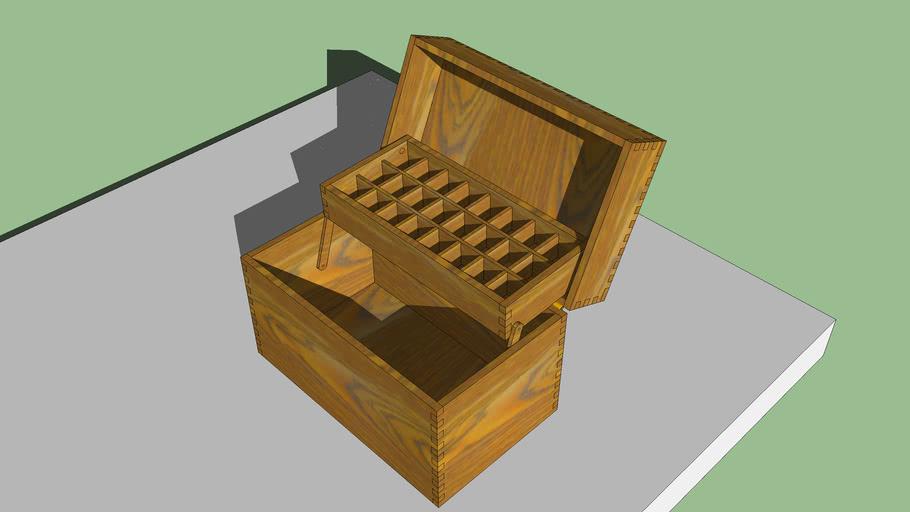 Boîte de rangement pour des huiles essentielles