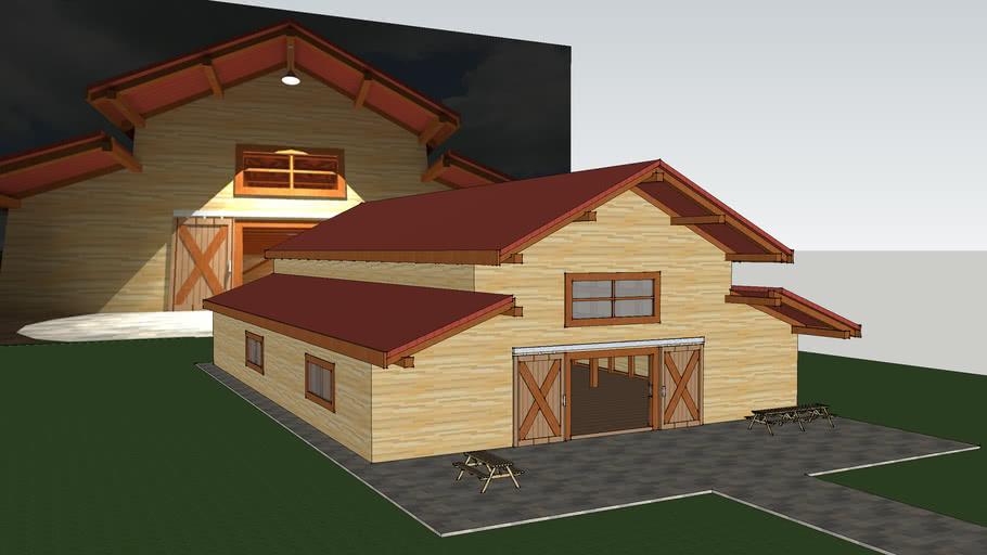 Wooden shed (Galpão de madeira)