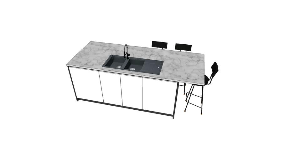 Keuken V58 - Eiland2840x1000