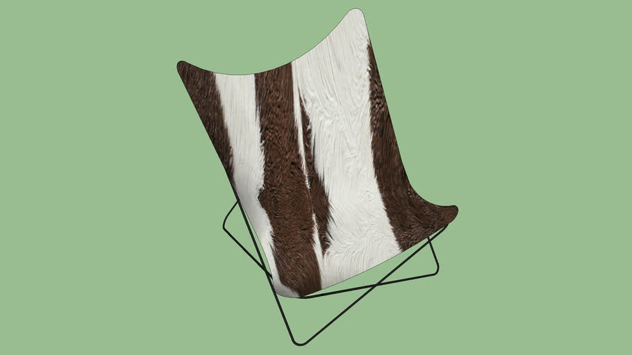 76715 Arm Chair Butterfly Fur