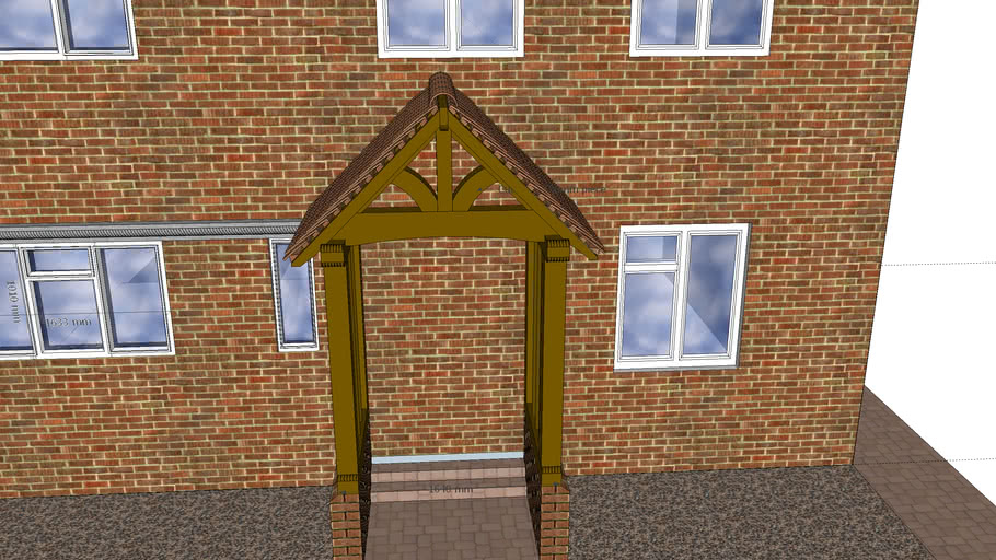 Oak porch design