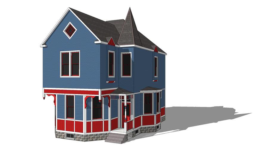 Asymmetrical Queen Anne House