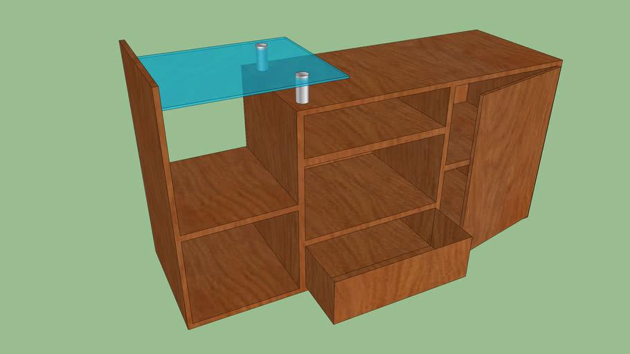 mueble de madera para televisor