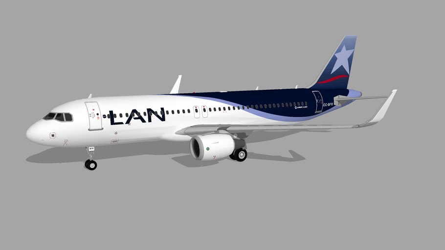 LAN Airlines (CC-BFX) - Airbus A320-214 (2014)