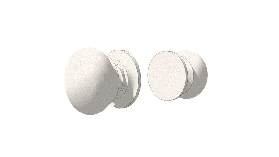 Crackle glaze door knob