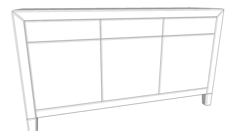 85397 Sideboard Luxury Push White