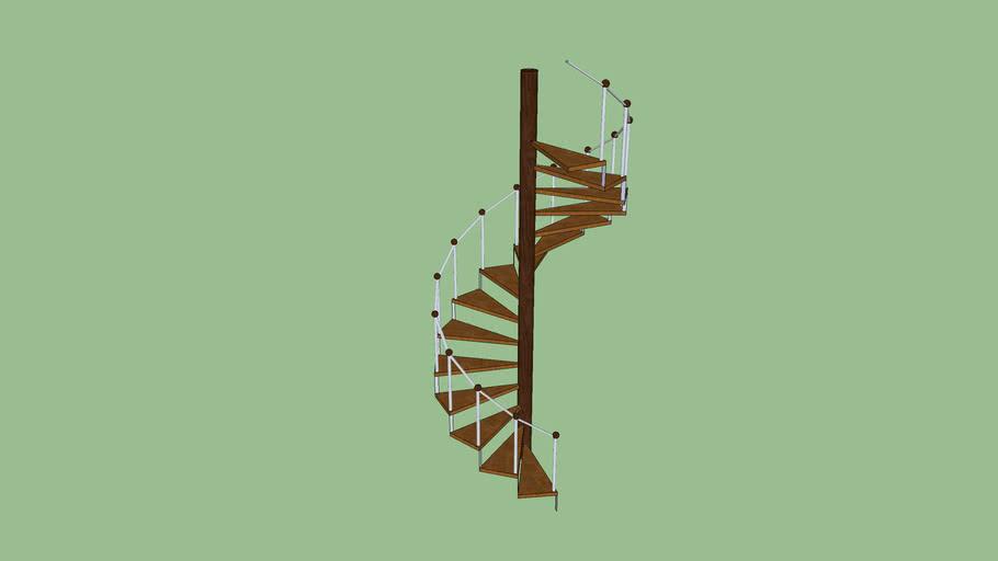 Escada Caracol com Acabamento