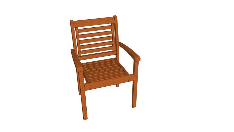 Cadeira Empilhavel Milano com braços
