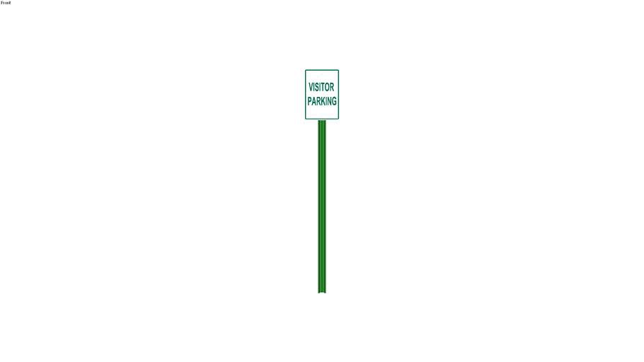 Visitor Parking Sign - Detailed