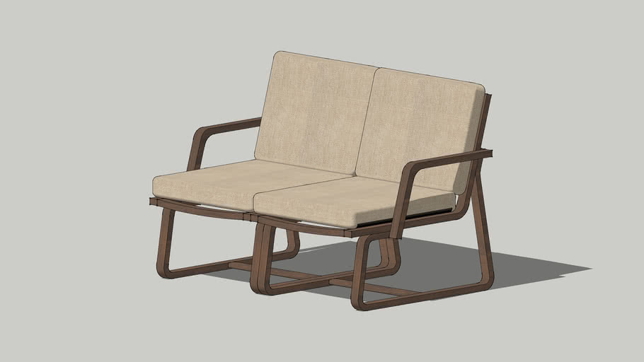 Muji Living Dining Sofa Chair Beige Cover Union 3d Warehouse