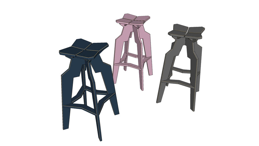 Splice Bar Stool Contempoary Seating