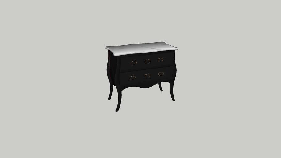 Wisteria Petite Black & White Directoire Chest