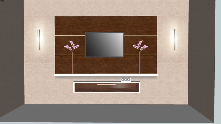 TV wall design idea