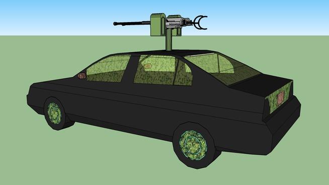 Camoflauged Car