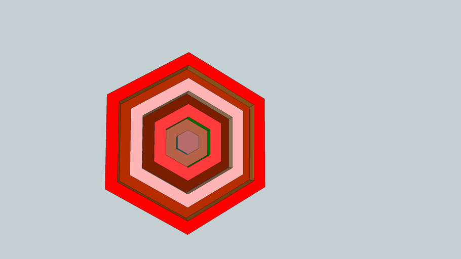 ornament perete hexagonal