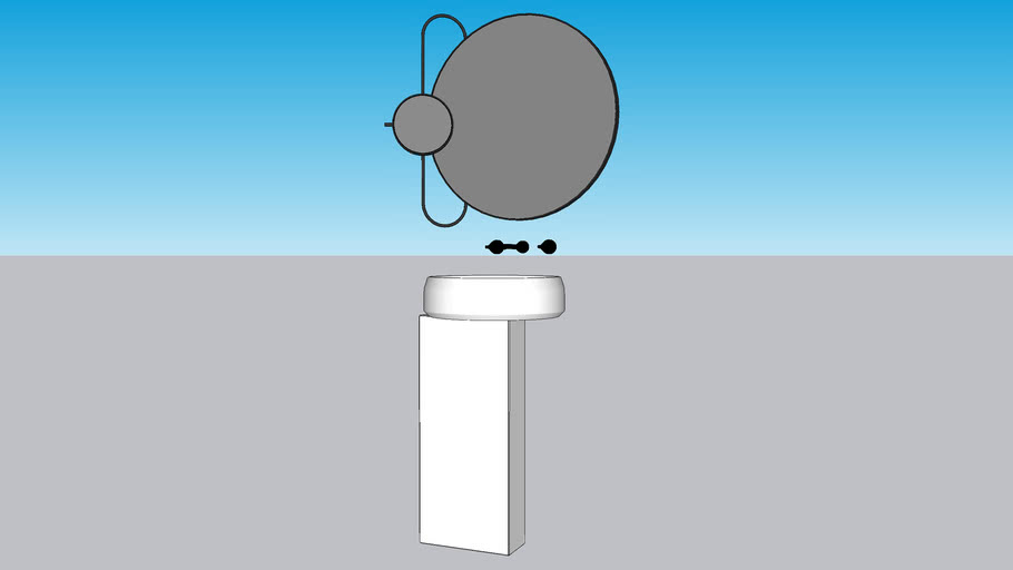 AGAPE lavabo Lariana e specchioera Revolving Moon