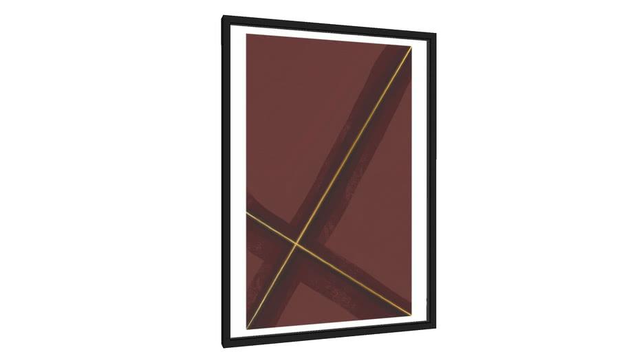 Quadro Nasce uma espiral - Marsala - Galeria9, por Willian Raphael