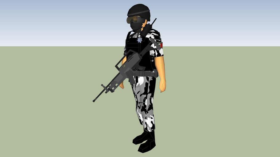 police man policia estatal  swat  grupo tactica