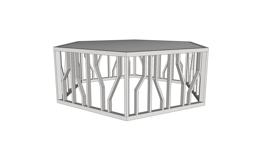 Aico Michael Amini_Free Standing Reflections Cocktail Table