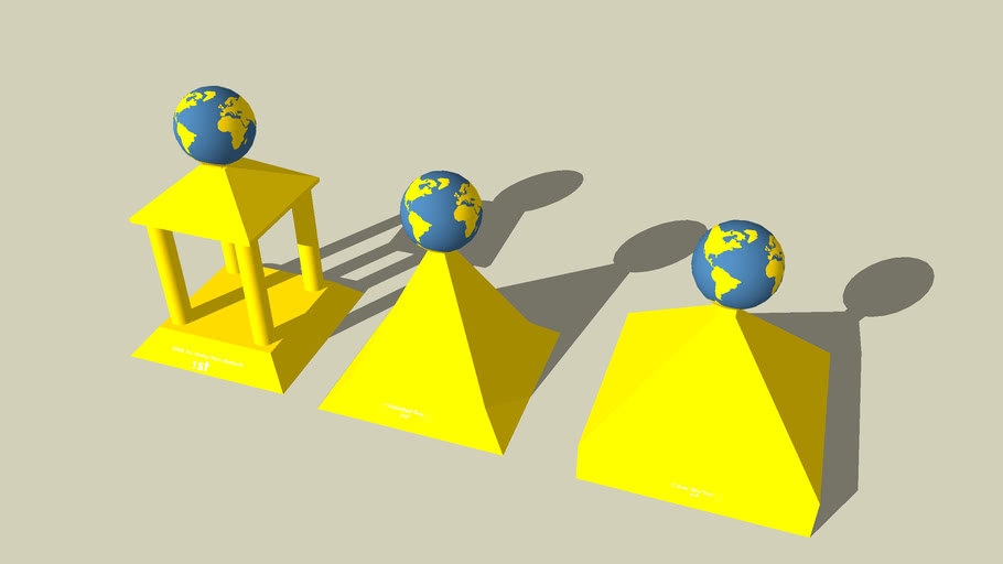 1st,2nd,and 3rd place trophies of my planet contest(for creativity)