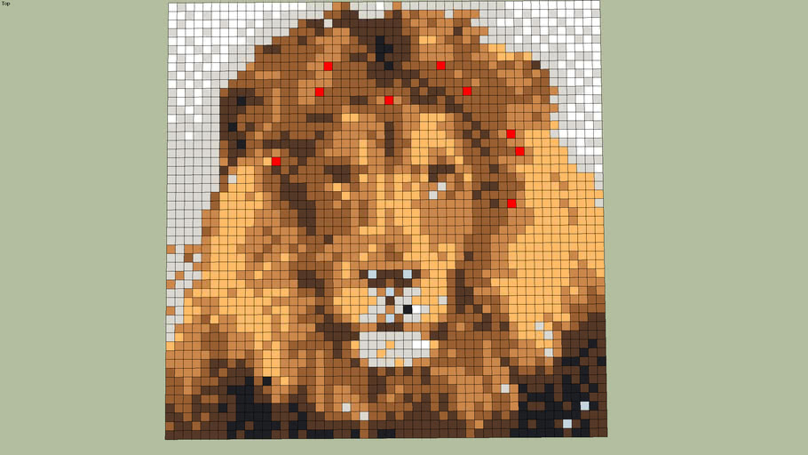 The Lion in Tiles