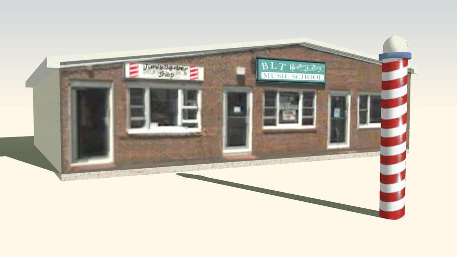 Jim's Barber Shop and BLT Music School