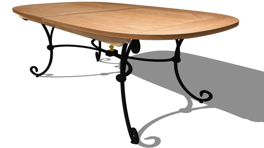 CLUB EXTENDABLE OVAL TABLE, REF T537, Michel FERRAND