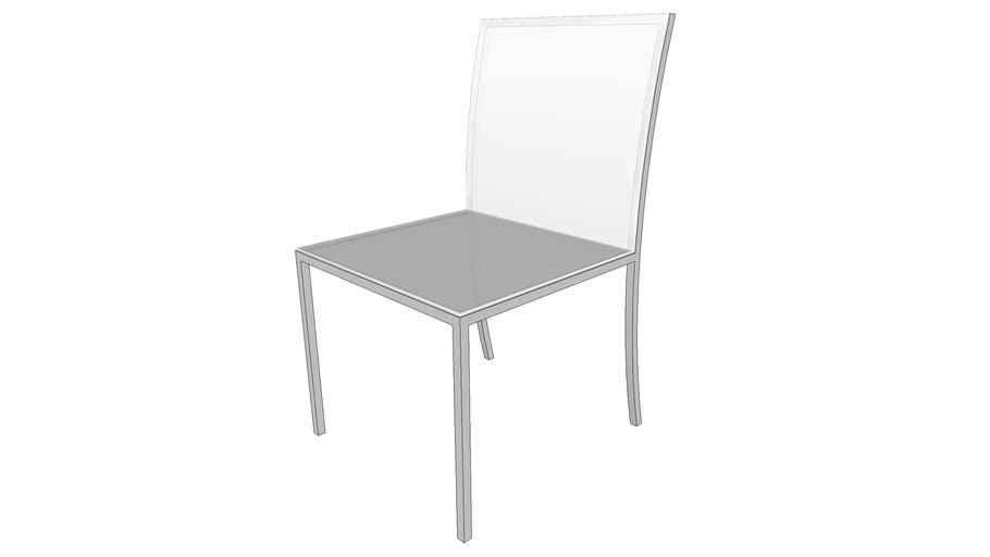 Cadeira metal transparente
