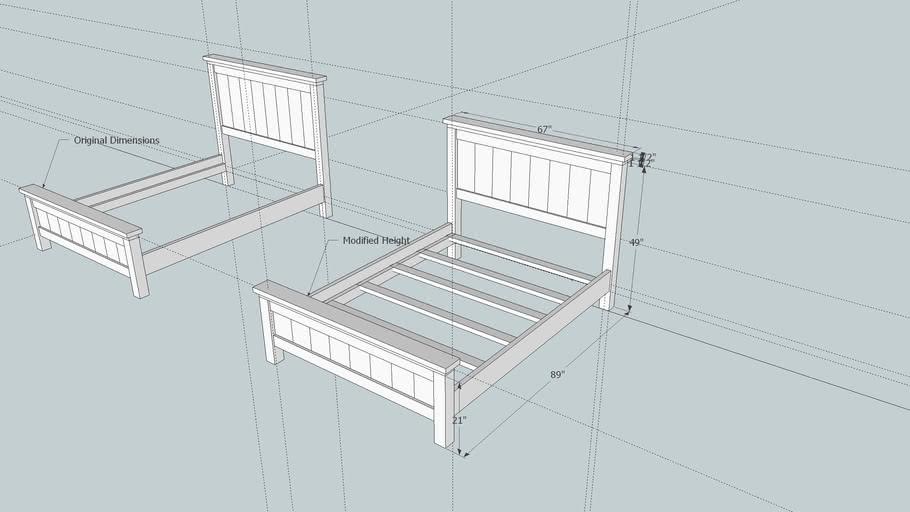 Queen Size Farmhouse Bed, Farmhouse Queen Bed Frame Plans