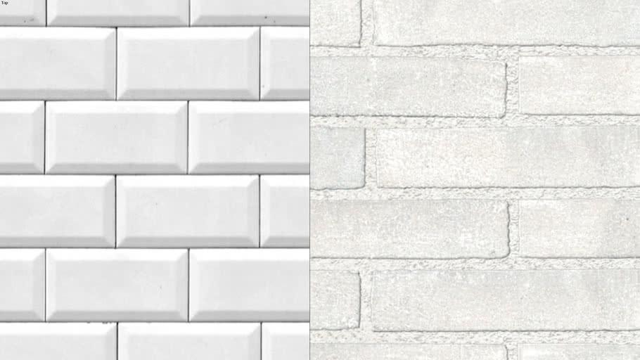 White Brick Texture 3d Warehouse