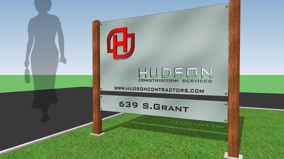 Yard Sign. HUDSON Construction Services v.001-03