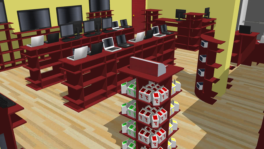 Computer Store Layout 3d Warehouse