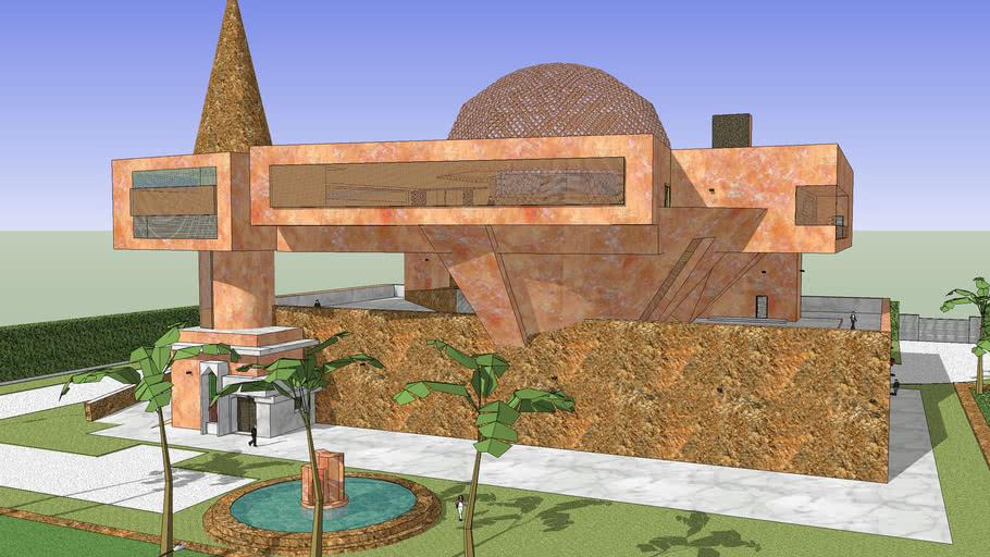 Palacete modernista árabe en 3D Are City