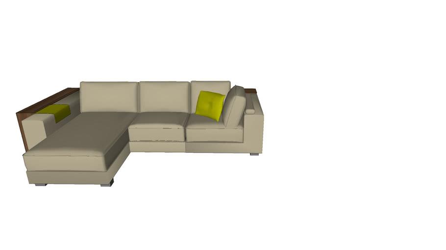 divano con retro libreria